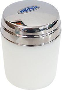 Porta Hastes Flexíveis De Algodão Porta Cotonetes Aço Inox