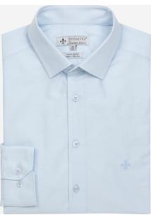Camisa Dudalina Tricoline Liso Masculina (Azul Marinho, 48)