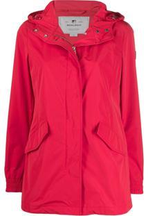 Woolrich Summer Parka Coat - Vermelho