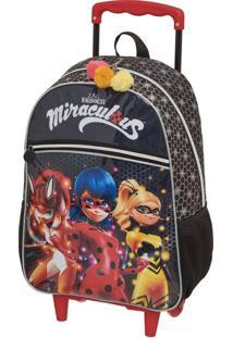 Mochila De Rodinhas Miraculous Ladybug Heroinas
