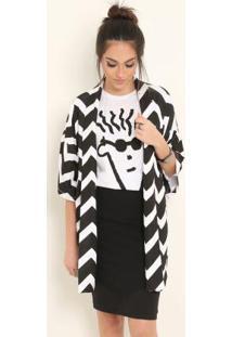 7f8aad32bd13da Posthaus Kimono Com Capuz Branco Fido Dido