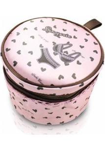 Necessaire Jacki Design Para Lingerie Tecido Coração - Feminino-Rosa