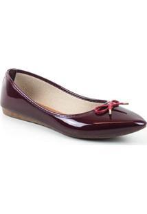 Sapatilha Tag Shoes Verniz Feminino - Feminino-Vinho