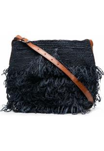 Ibeliv Tasseled Woven Shoulder Bag - Azul