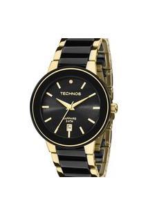 Relógio Technos Feminino Ceramic Dourado Analógico 2115Krs4P