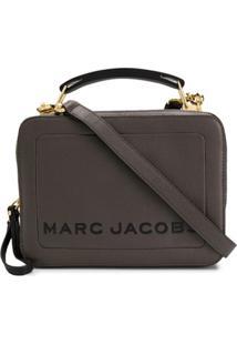 Marc Jacobs Zipped Logo Satchel - Cinza