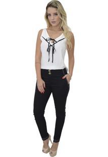a983890ce Blusa Branca Cavada feminina