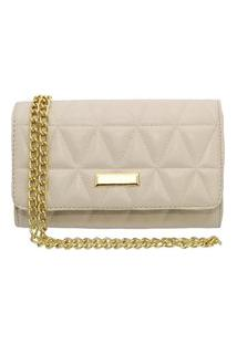 Bolsa Clutch Maria Paula Metalassê Off White