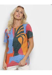 Camiseta Cantão Local Vasos Feminina - Feminino-Laranja