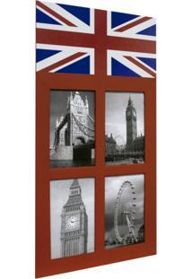 Painel England 4 Fotos Vermelho 61325