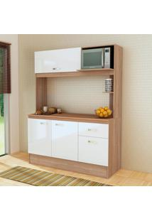 Cozinha Compacta Nina 4 Portas Com Tampo Teka/Branco - Fellicci