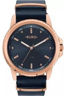 Relógio Feminino Euro Eu2035Ynm/4A Pulseira De Couro - Feminino