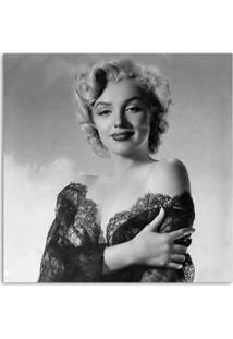 Quadro Marilyn Vestido De Renda Uniart Preto & Branco 30X30Cm