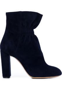 Chloé Ankle Boot De Couro - Azul