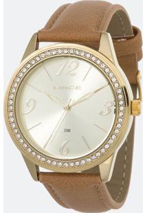Kit Relógio Feminino Lince Lrc4343L K155C2Mx Analógico 3 Atm + Conjunto Semijoia