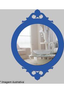 Espelho Retro- Espelhado & Azul- 30X22X5Cm- Cia Cia Laser