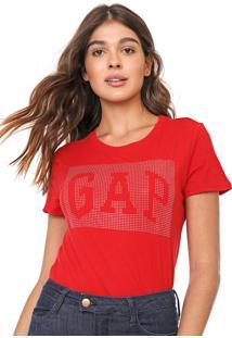 Camiseta Gap Aplicações Vermelha - Kanui