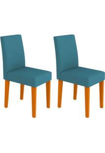 Conjunto Com 2 Cadeiras Giovana Ipê E Azul