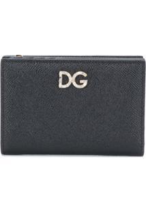 Dolce & Gabbana Carteira De Couro Com Placa De Logo - Preto