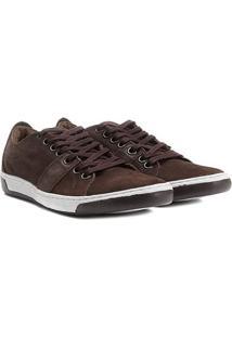 Sapatênis Shoestock Couro Masculino - Masculino-Café