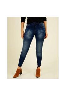 Calça Jeans Skinny Puídos Feminina Biotipo