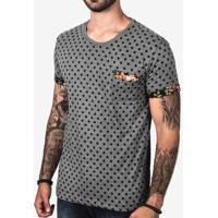 Camiseta Hermoso Compadre Poá Estampado Masculina - Masculino-Cinza 8f424bff0e7