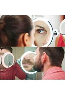 Espelho Banheiro Quarto Flexível Barba Maquiagem Aumenta 10X