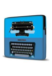 Capa Para Notebook Máquina Escrever Azul 15 Polegadas