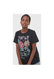 Camiseta Colcci Trust Love Preta