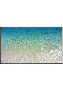 Quadro Decorativo Praia- Azul & Prateado- 50X80Cm
