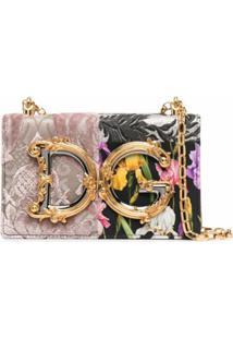 Dolce & Gabbana Bolsa Transversal Com Patchwork Dg - Preto