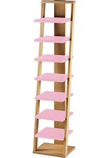 Estante Prateleira Suspensa Stairway Maxima Palha/Rosa Cristal