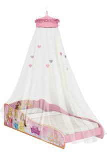 Mini-Cama Princesas Disney C/Dorsel De Teto Rosa Pura Magia