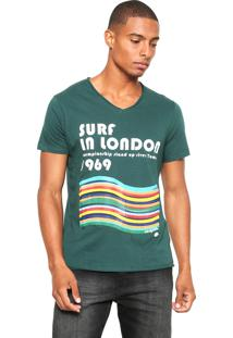 Camiseta Sergio K Surf In London Verde