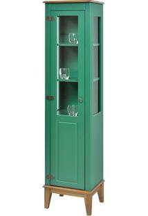Cristaleira Laura 1 Porta Cor Verde Com Amendoa 180 Cm - 63429 - Sun House
