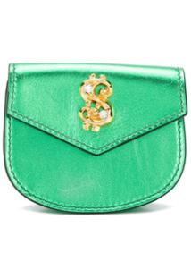 Moschino Porta-Moedas Com Aplicação De Cifrão - Verde