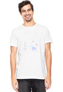 Camiseta Richards Estampada Branca