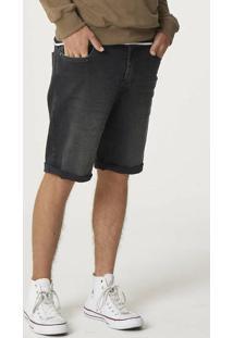 Bermuda Jeans Masculina Em Denim Moletom