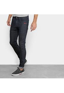 Calça Jeans Skinny Rock & Soda Lisa Básica Masculina - Masculino-Azul Escuro