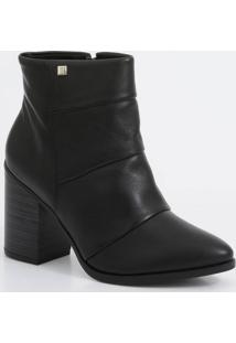 Bota Feminina Ankle Boot Salto Grosso Ramarim