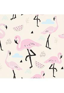 Papel De Parede Flamingo Rosa Para Quarto De Menina 57X270Cm - Tricae