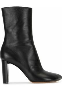 Y/Project Ankle Boot Bico Fino - Preto