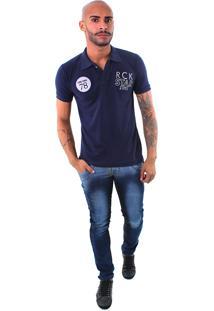 Camisa Polo Rockstar 78 Azul Marinho