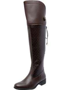Bota Mega Boots Over The Knee Marrom