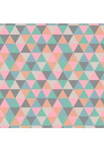 Tapete Mosaico Triângulos Rosa Claro Casa Dona Antiderrapante 140 X 200 Cm 100% Marca Própria