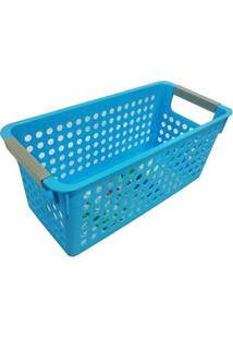 Cesta Organizadora Pequena 29X13X12Cm Basic Kitchen Azul
