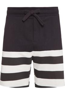 Bermuda Masculina Duo Stripes - Preto