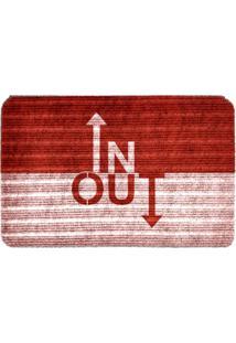 Capacho Carpet In Out Vermelho Único Love Decor