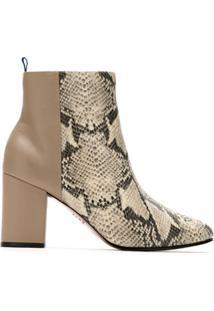 Blue Bird Shoes Bota Duo Couro Print Python - Neutro