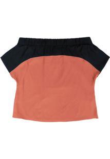 Blusa Com Decote Ombro A Ombro Laranja